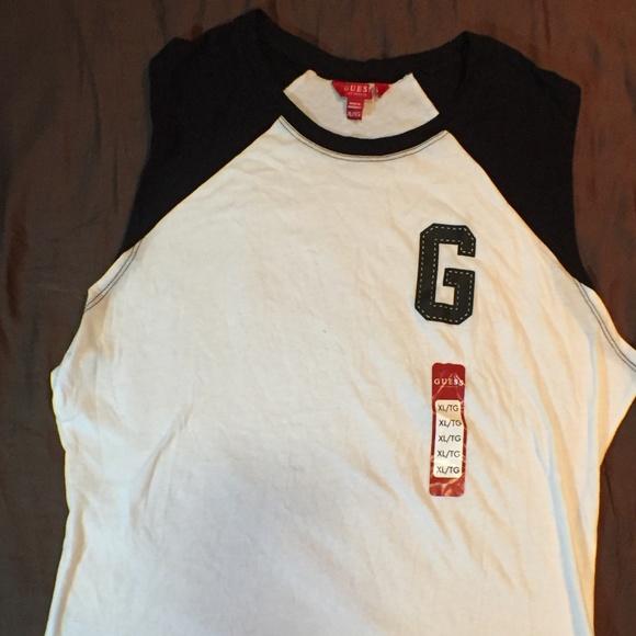 Details about VINTAGE GUESS JEANS Los Angeles T Shirt Tank Top Mens XXL